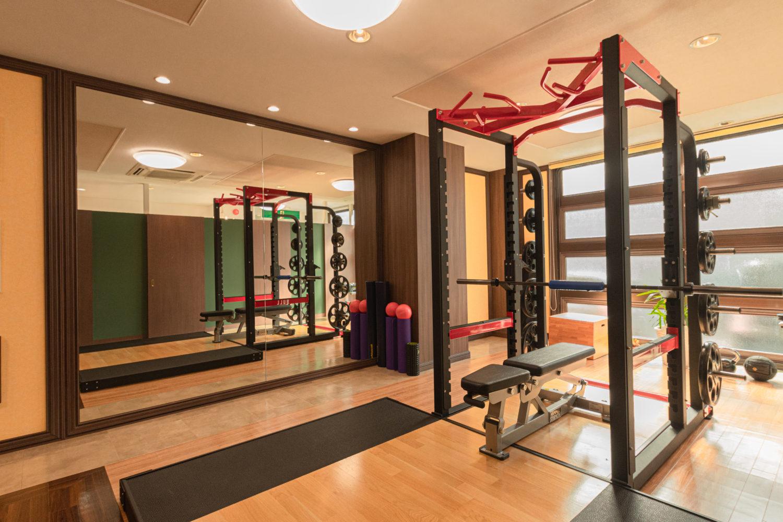 運動に集中できる空間装飾