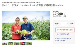 日本初!野菜セットとコラボした、ふるさと納税返礼品誕生!