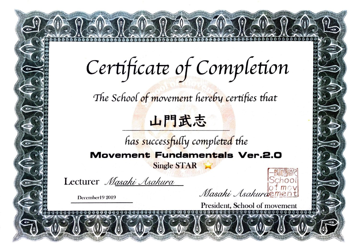 Movement Fundamentals ver.2.0 Single STAR
